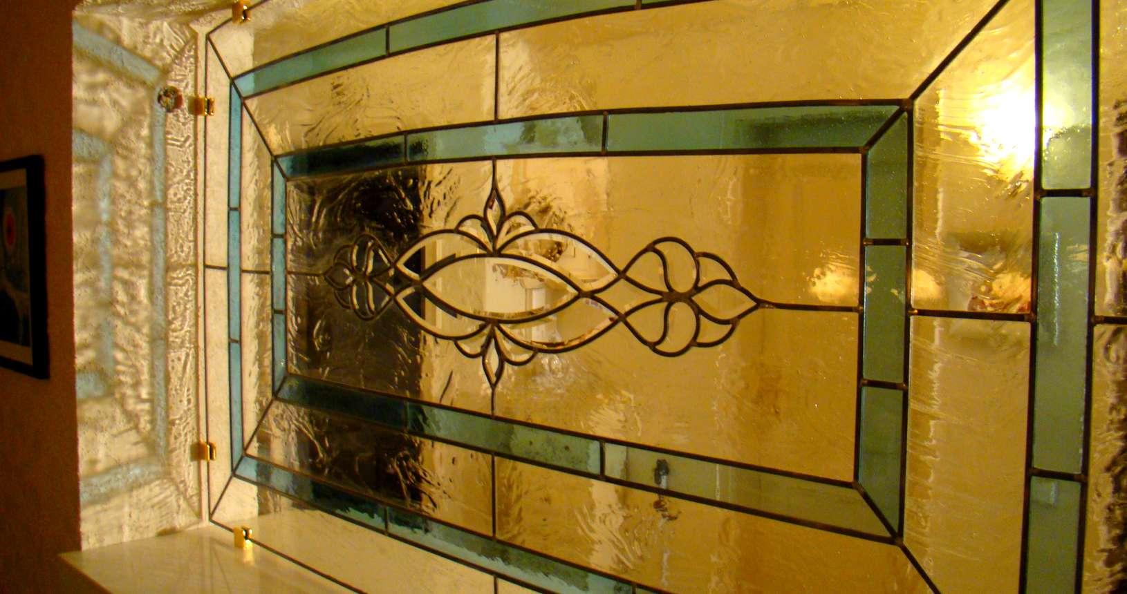 Bleiverglasung mit Facettenschliff - Glaserei Malte Pasche